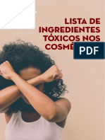 listas de ingredientes tóxicos nos cosméticos
