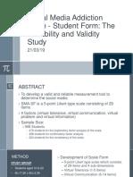 Social Media Addiction Scale - Student Form