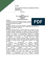 Ley Forestal de Panamá 1994