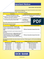 Revised Cash Deposit Charges April 2019