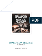 Some of the Most Important Theories of Motivation Are as Follows