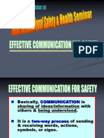 Effective Safety Communication