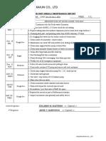 WDec 28~Jan 3,  2018 - Engine part weekly maintenance report
