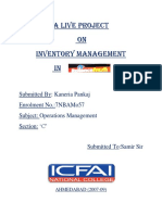 Inventory Management in Reliance Fresh