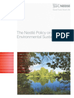 Nestlé Policy on Environmental Sustainability