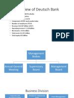 Overview of Deutsch Bank