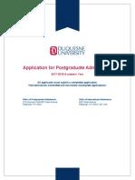 Duquesne Application Form