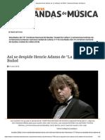Así Se Despide Henrie Adams de 'La Artística' de Buñol - Nuestras Bandas de Musica