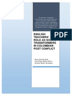 English teachers´role as social transformers in Colombia postconflict.docx