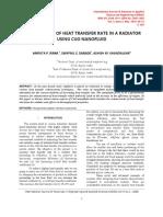 Enhancement of Heat Transfer Rate in a Radiator Using Cuo Nanofluid - PDF