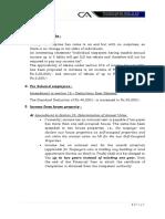 Interim Budget 2019 Summary
