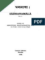 Benoytosh Bhattacharya (editor) - Sādhanamālā, Vol. I   (1925).pdf