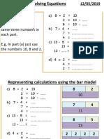 Bar modelling maths