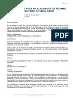 Procu Reglamento Para Aplicacion Ley de Regimen Tributario Interno