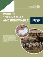 Wool is Natural Renewable 131217