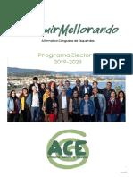 Programa Alternativa Canguesa de Esquerdas 2019 - 2023