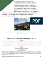 estatuto comunidad campesinas