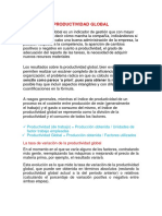 Productividad Global Informe