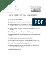 Work Visa Requirments