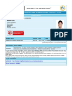 Foreign Exchange Admit Card