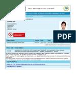 Foreign Exchange Admit Card