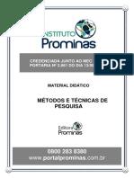 MÉTODOS E TÉCNICAS DE PESQUISA