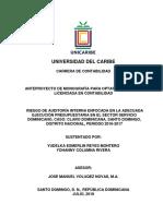 Anteproyecto Auditoria Interna Claro Dominicana Yudelka y Yohanny 26-7-18