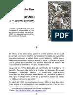Umberto Eco. Sobre El Fascismo