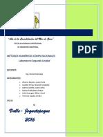 Informe Final Métodos Numéricos Segunda Unidad (1)