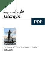 Leyenda de Licarayén - Wikipedia, La Enciclopedia Libre