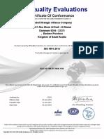 ISO 9001 2015 Certificate of GSA