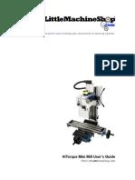 3900 Mini Mill Users Guide