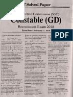 Ssc Constable Exam 2019