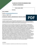 Proyecto Sociologia Fines 2018