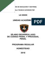 SILABUS DE CODIGO PENAL PROM. HONESTIDAD 2018..docx