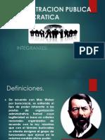 BUROCRACIA Y NUEVA GESTION PUBLICA