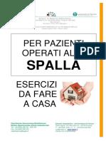 Libretto Informativo Esercizi Per Pazienti Operati Alla Spalla