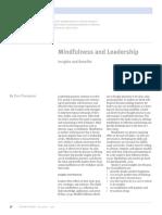 Mindfulness and Leadership, Thompson 2017