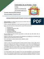 TIPO DE SISTEMAS OPERATIVOS