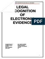 IT PROJECT- Legal Recognition of Electronic Evidence