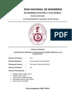 Verificación de Parámetros y Dimensiones de Cables Eléctricos y sus Componentes