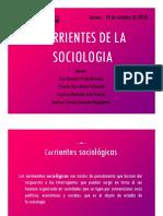 Corrientes de la Sociología