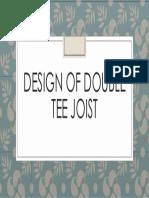Design Of Double Tee Joist