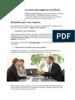 Requisitos para crear una empresa en el Perú.docx