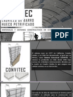 PANEL CONVITEC, RESISTENCIA DE EL LADRILLO HUECO PETRIFICADO (material de exposición)