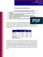 FY 10 Monetary Review