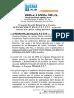 Informe Afrocaucana de Aguas