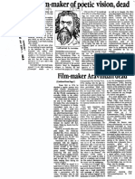 Aravindan, Film-maker of Poetic Vision, Dead
