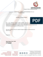Certificacion Laboral Yhonatan Santos