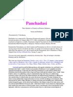 Panchadasi - V.krishnaraj